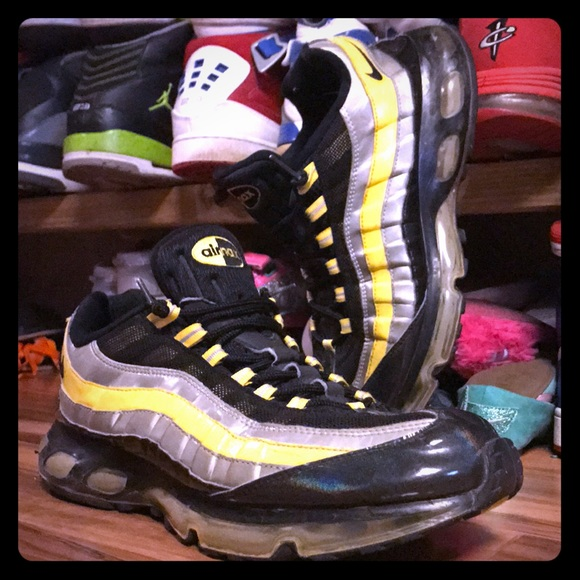 wholesale online new product on wholesale Nike Air Max 95 360 Hybrid – Black/Zest/Silver!!